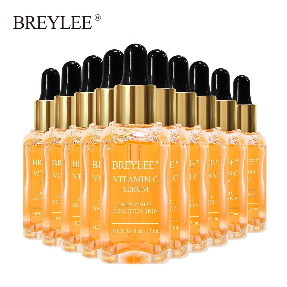 BREYLEE Vitamin C Whitening Serum Face Facial Brighten Skin Fade Dark Spots Freckle Skin Care Anti Remove Melanin Liquid 10PCS
