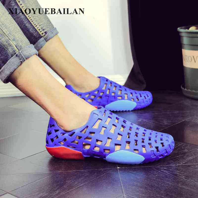 Summer Trend Mens Sandals, Anti-skid Version, Lazy Men, Leisure Personality, Hollowing Out, Beach Hole Shoes