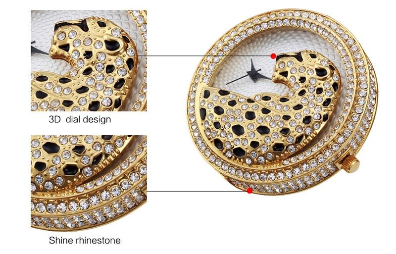 Miss Fox Women's Watch 2019 Top Brand Luxury Bling Ladies Golden Leopard Watches Crystal Diamond Watch Female Relogio Feminino (3)
