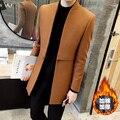 En el 2015 de invierno abrigo de paño masculino edición de han cultiva su moralidad gabardina ocio juvenil añadir algodón color puro larga coa