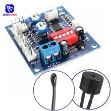 NTC 3950 Thermistor PWM Temperature Probe Speed Controller Board Control Module Buzzer DC 12V CPU Fan High Temp Alarm Heat Sink