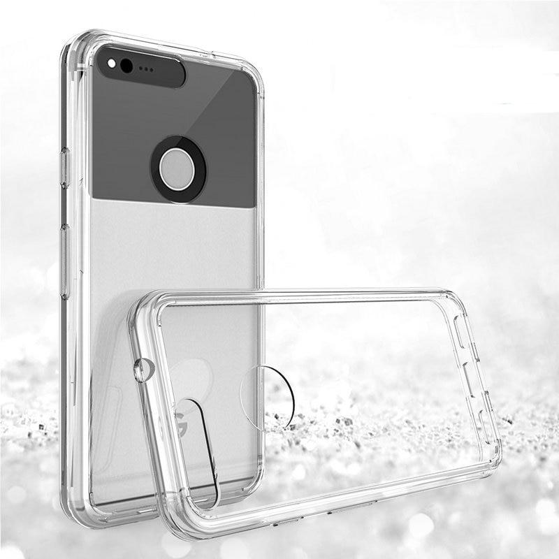Crystal Back Case For Google Pixel XL Case Hybrid TPU PC Transparent Clear Armor For Google Pixel Case Coque Pixel XL Back Cover