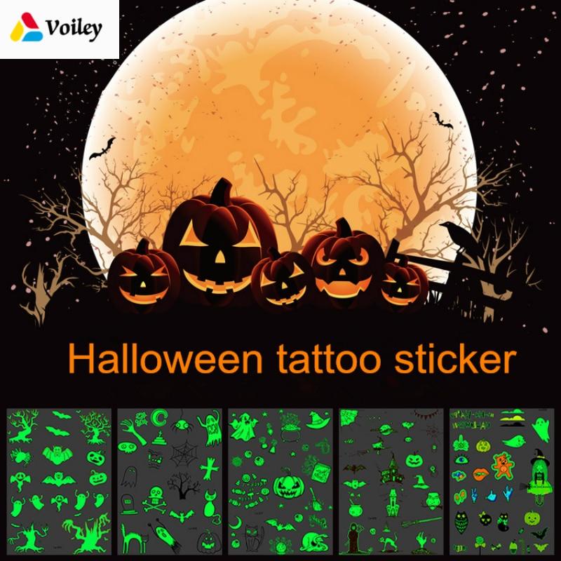 Halloween Luminous Tattoo - Glowing In Dark Waterproof Temporary Tattoo