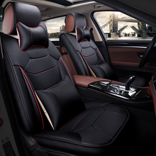 цена на Car Seat Covers leather automobiles accessories for peugeot 106 205 206 207 208 3008 301 306 307 pcs 308 of 2010 2009 2008 2007