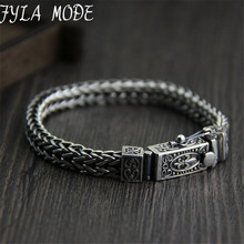 Brand 925 Silver Bracelet 100% 925 Solid Silver Fashion Jewelry Braided Dragon Body Bone Thai Silver Chains Bracelet & Bangle