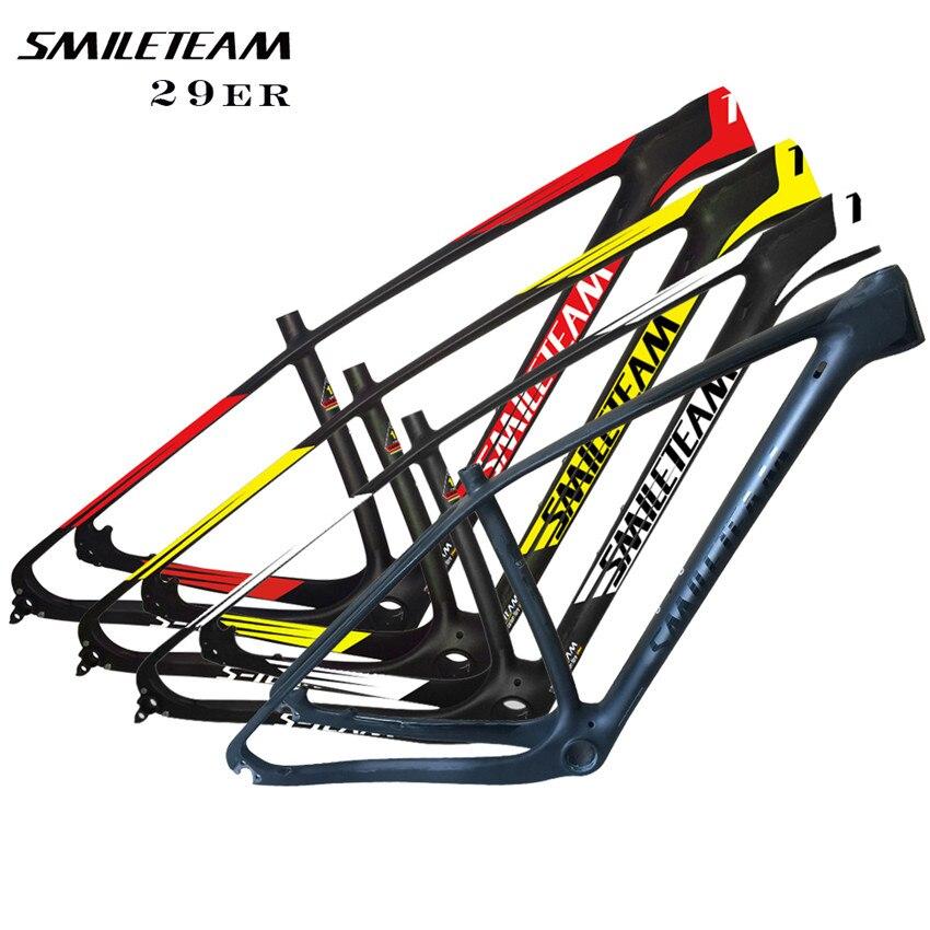 SmileTeam 27.5er/29er Full Carbon MTB Mountain Bike Frame 29er MTB Carbon bike MTB frame Bicycle MTB Carbon Frame ,Free shipping