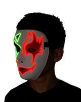 Toptan 10 adet Glow Ölüm maskesi hayalet maskesi masquerade Plastik cadılar bayramı sahne Için Moda Düğün Parti Malzemeleri