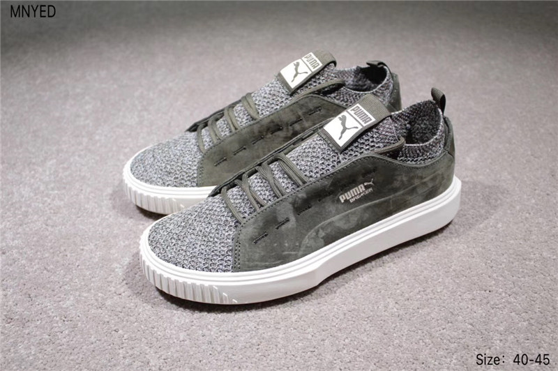 2018 PUMA Breaker Knit Sunfaded Mens Black Suede Lace up Womens Sneakers Shoes badminton shoes size 36-44