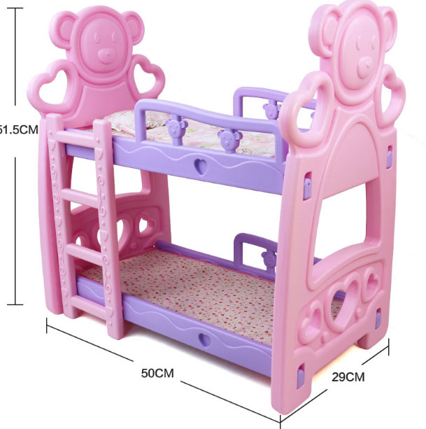 Children Furniture Playset Toy Birthday Gift Kids Home Garden Playing Pink Swing Chair Fit MellChan and 9-11inch Reborn Doll