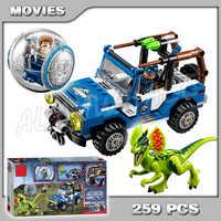 259 Uds Bela 79093 Mundo Jurásico Dino Park el dilofosaurio sea emboscada de bloques de construcción de acción juguetes Compatible con Lego
