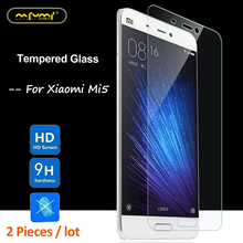 2PCS Glass For Xiaomi Mi5 Screen Protector Tempered Protective Phone Film Mi 5