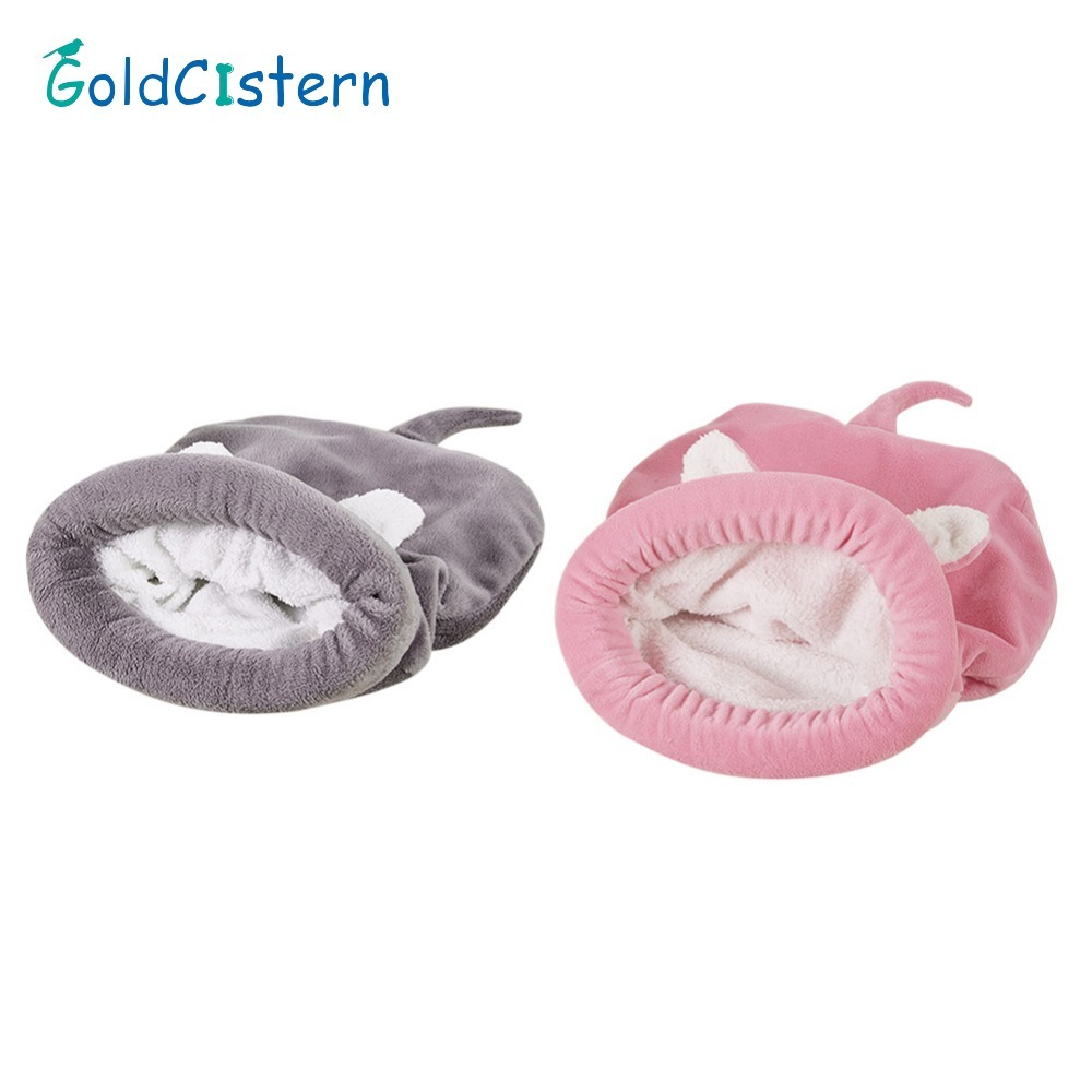 Dog Cat Bed Cute Cat Sleeping Bag Soft Warm Cat House Pet Mats Puppy Cushion Small Dog Rabbit Bed Funny Pet Products
