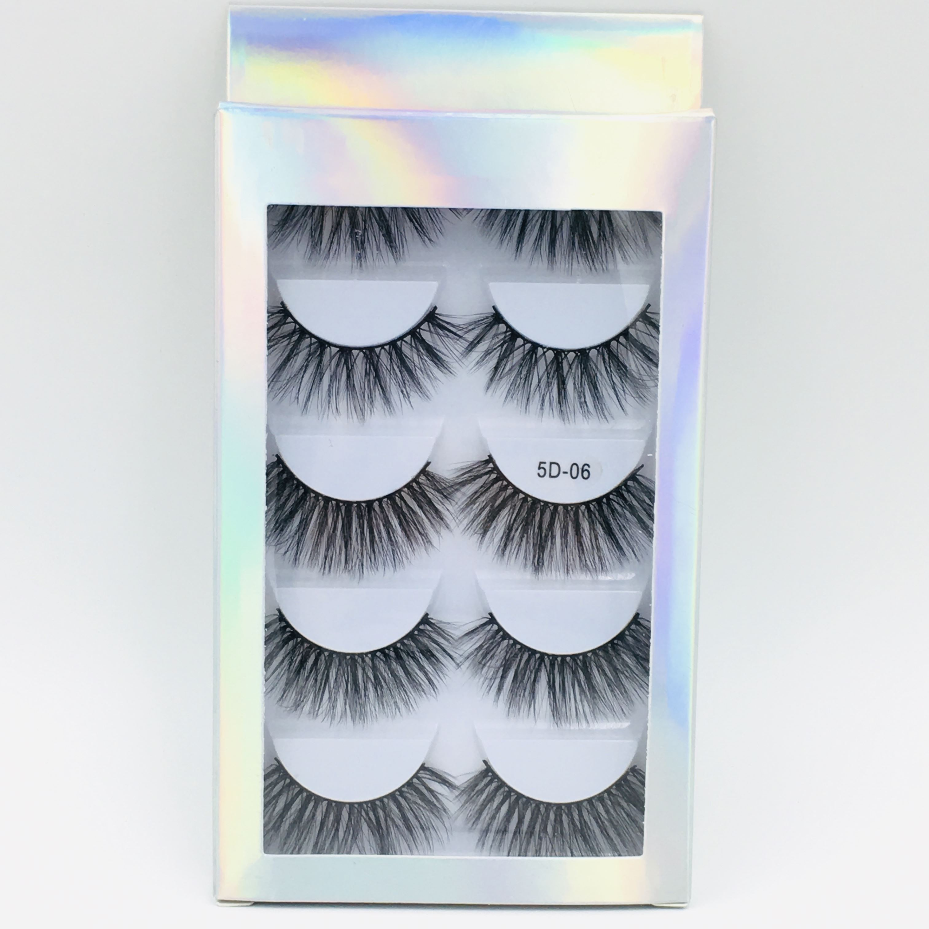 SEXYSHEEP 5 Pairs 3D Faux Mink Hair Soft False Eyelashes Fluffy Wispy Thick Lashes Handmade Soft Eye Makeup Extension Tools