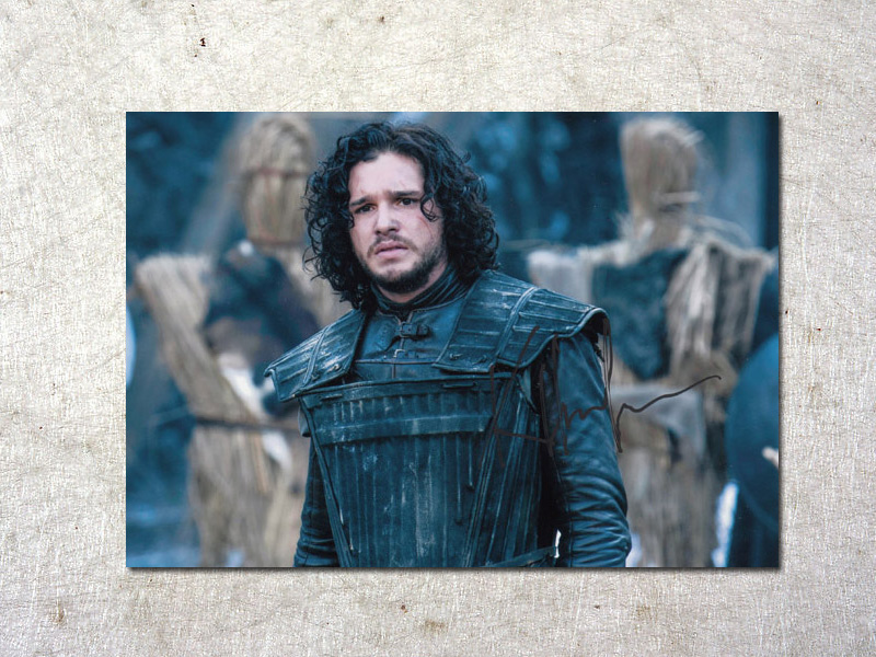 signed Kit Harington Game of Thrones autographed original photo 7 inches free shipping  092017C signed kobe bryant autographed original photo 7 inches free shipping 08201709