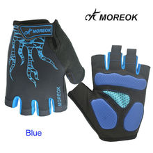 MOREOK Half Finger Cycling Gloves Mens Women's Sports Bike-Bicycle Gloves Nylon MTB Gloves Guantes Ciclismo