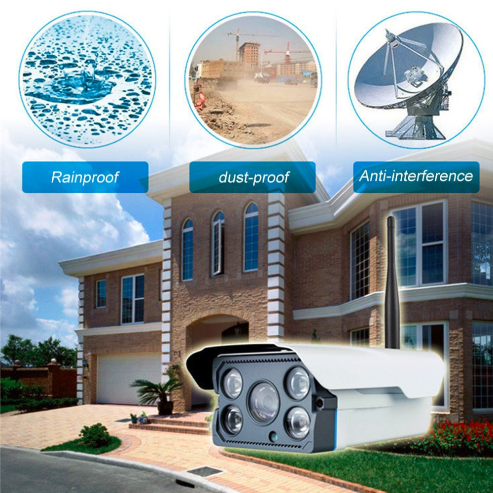 V380 Outdoor Security Waterproof Network High Definition IP Camera Wireless Night Vision Camera House Monitor