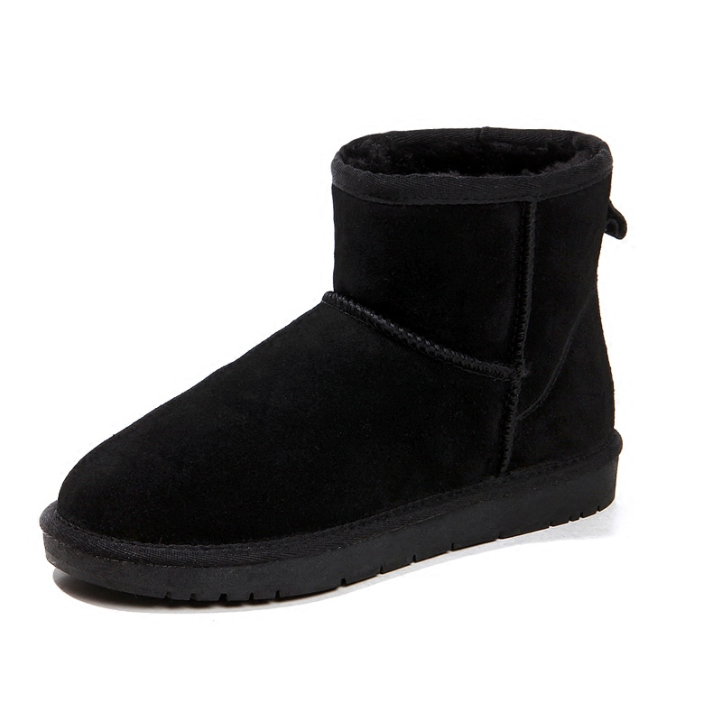 Ug Australia Women Boots Mujer Botas Ankle Leather Button Lady Snow Boots Warm 2017 Brand Women Winter Shoes EUR Size 34-44 2016 rhinestone sheepskin women snow boots with fur flat platform ankle winter boots ladies australia boots bottine femme botas