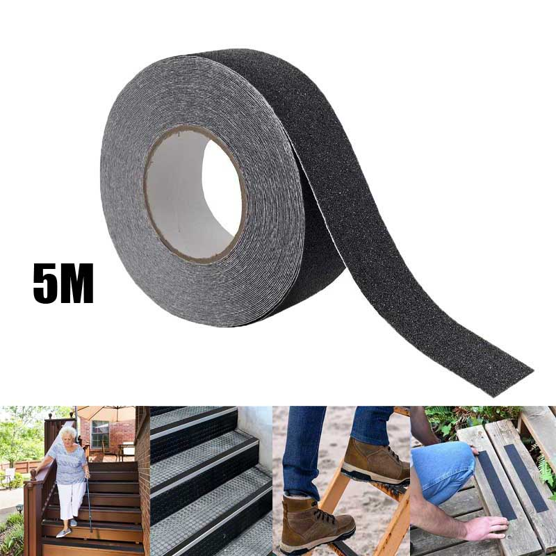 5M Anti-Slip Tape Outdoor Anti Slip Stickers High Friction Non Traction Abrasive Adhesive for Stairs Safety Tread Step