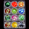 Irridencent 12 Colors Round Shape 1mm 2mmm 3mm Sequins Mermaid Nail Art Glitters Decoration Crafts Body