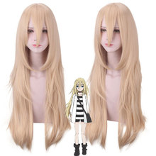 New Arrival Angels of Death Ray Rachel Gardner Cosplay Wig for Women 80cm Long Straight Anime Costume Party Wig Hair Gold цена