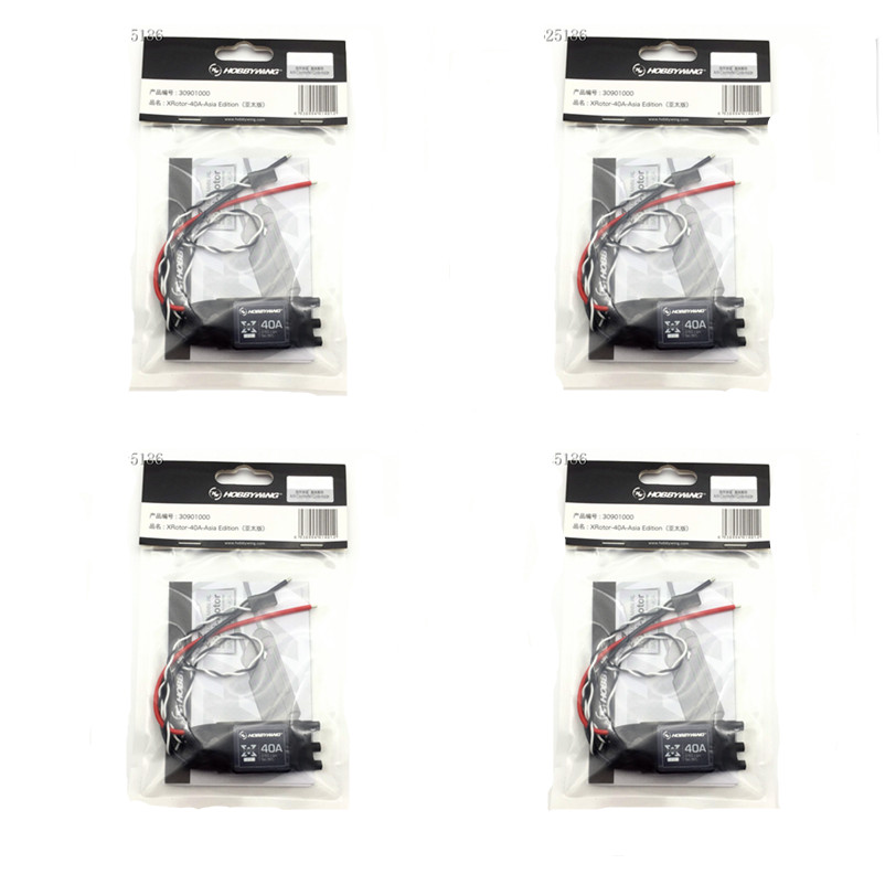 4pcs Original Hobbywing XRotor 40A OPTO ESC Asia pacific Version for F550 650 680 Quadcopter High
