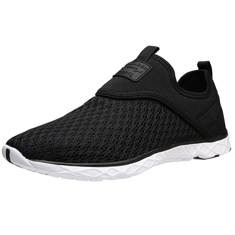 Black Aleader slip-on water shoe