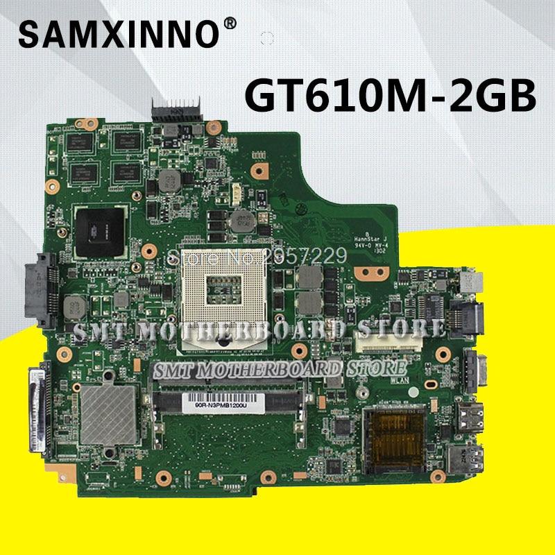 K43SD Motherboard REV: 4.1 GT610M 2GB For ASUS K43SD K43E A43E laptop Motherboard K43SD Mainboard K43SD Motherboard test 100% OK for asus k43sd laptop motherboard processor i3 8 memory 2g mainboard 100