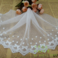 High Quality!! Wide--14cm Diy handmade accessories material lace decoration 100% cotton embroidery net flower