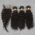 7A Malaysia Curly Virgin Hair With Closure top Malaysia Virgin Hair With Closure Deep Curly Human Hair 3 Bundles With Closure