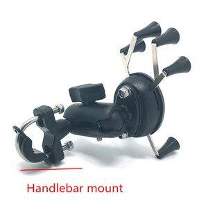Image 3 - Jadkinsta Motorrad Lenker Rückspiegel Montieren Schienen X Grip für Gopro Handy Smartphone Halter für iPhone 7 7 + 6s Ram Halterungen