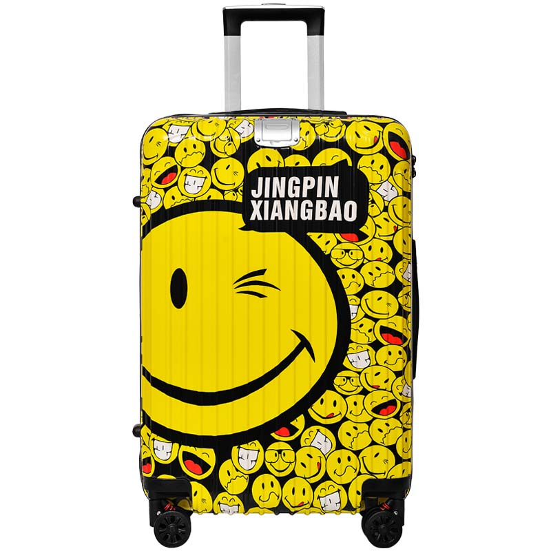 BeaSumore Creative femmes bande dessinée roulant bagages Spinner hommes Trolley cabine valise roues Hardside voyage sac mot de passe tronc-in Bagages à roulettes from Baggages et sacs    1