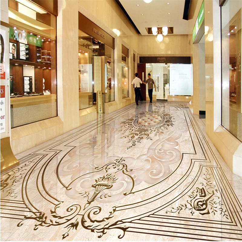 beibehang 3D wallpaper Custom photo wallpaper mural European jade relief 3D self-adhesive PVC wear floor tiles papel de parede