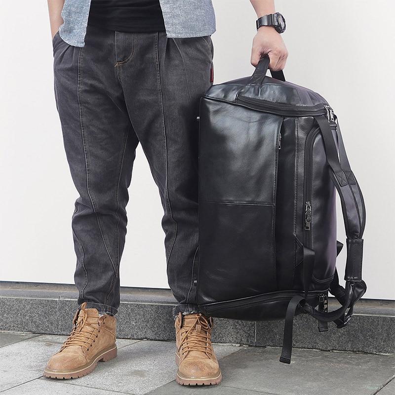 Design Echtem Duffle 6010a Tasche Jmd Große Reisetasche Bagpack X Wochenende Black Leder Männer Business Beliebte ZFwxvTHxq