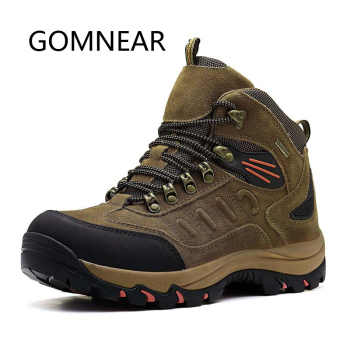 GOMNEAR Men\'s Winter Outdoor Hiking Shoes Leather Hunting Trekking Shoes Waterproof Hiking Boots Brand Warm Sport Sneakers Men - DISCOUNT ITEM  42% OFF Sports & Entertainment