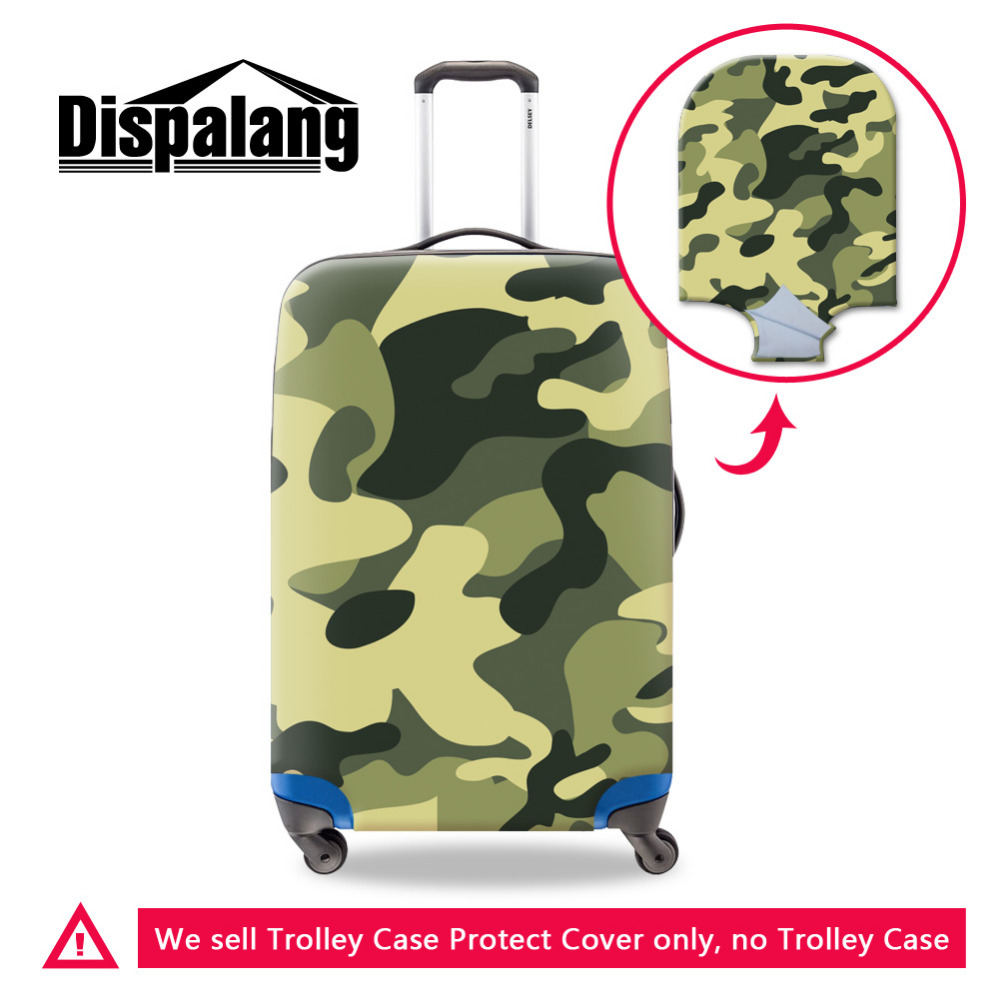Cool 3D Camo Print Travel Protective Luggage Cover Elastic Suitcase Cover Waterproof For 18-30 inch Case Mens Travel Accessories
