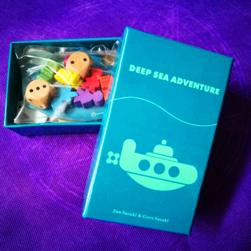 Deep Sea Adventure Board Game with English Instructions Funny Cards Game 2-6 Players Family/Party Game For Children Best Gift castles of burgundy board game 2 4 players cards games send english instruction funny game for party family with free shipping