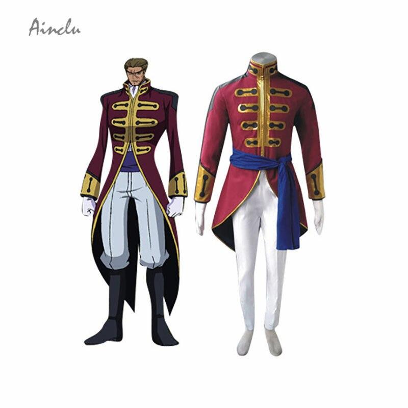 Ainclu Free Shipping Code Geass Britannia Men Cosplay Costume