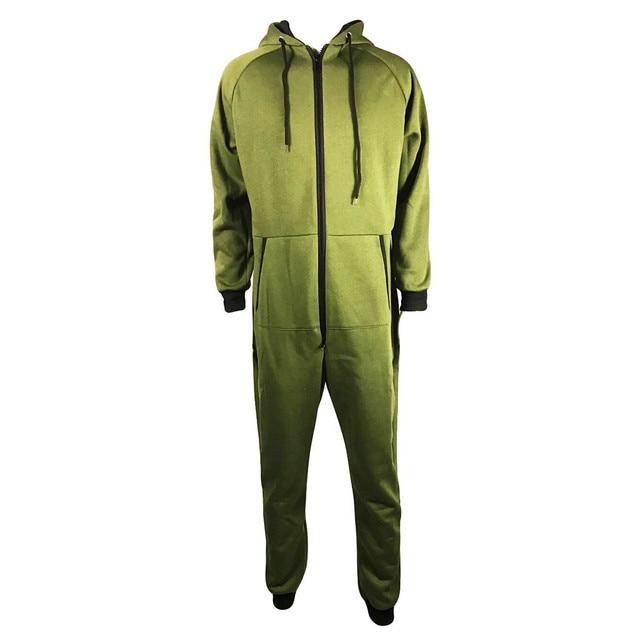 Men Zipper Onesie Autumn Thicken Fleece Hooded Jumpsuit Streetwear Jumpsuit Hoodies Winter One-piece Overalls X9121 6