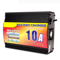 24V 10A Lead Acid Battery charger with charge current indicator, intelligent 4 stage truck battery charger