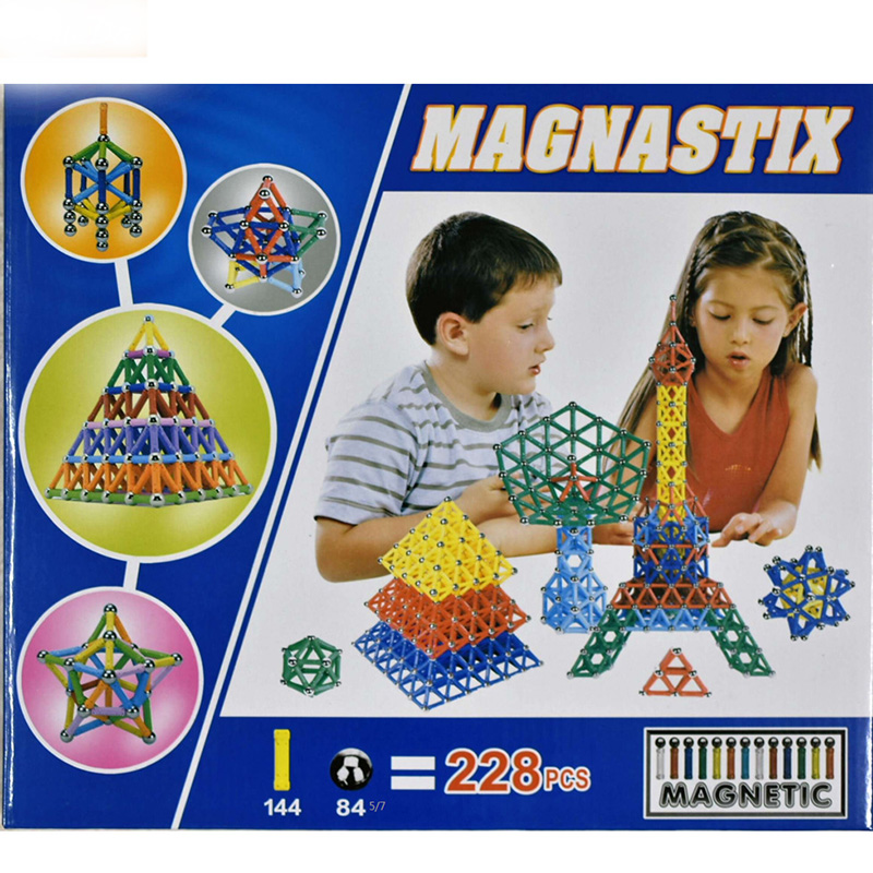 228 PCS Bars/Balls DIY Puzzle Magnetic Puzzle Toys стоимость