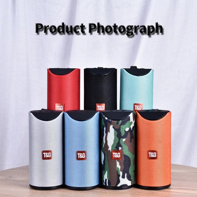 TG Bluetooth Speaker Portable Outdoor Loudspeaker Wireless Mini Column 3D 10W Stereo Music Surround Support FM TFCard Bass Box Consumer Electronics