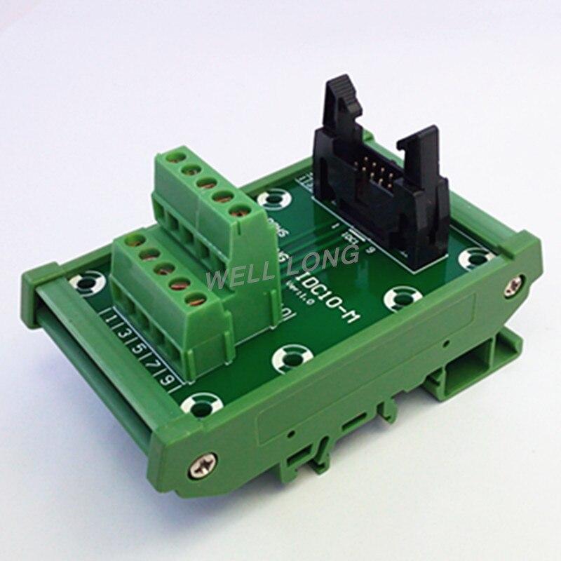 IDC-10 DIN Rail Monté Interface Module.