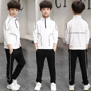 Image 3 - İlkbahar sonbahar erkek giyim seti 2019 çocuk eşofman uzun kollu tişörtü + pantolon giyim setleri genç spor takımları 4 12T
