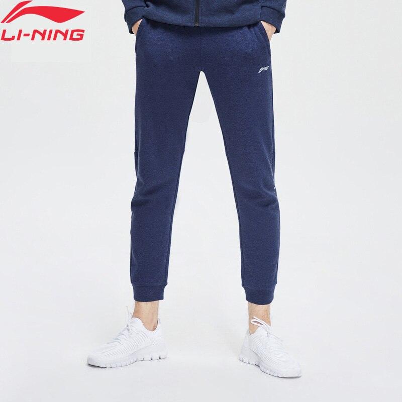 Li-Ning Men Training Sweat Pants Comfort Regular Fit 70% Cotton 30% Polyester LiNing Li Ning Sport Pants Trousers AKLP147 MKY505