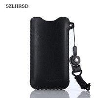 SZLHRSD para Highscreen Fest XL Pro Caja Del Filtro Del Teléfono Móvil de 5.5 pulgadas venta Caliente delgada de la manga cubierta de bolsa + Lanyard