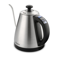 ALBOHES 1L Electric Water Kettle 1000W Gooseneck Electric Kettle Stainless Steel Heat Preservation For Drip Coffee Tea US/EU