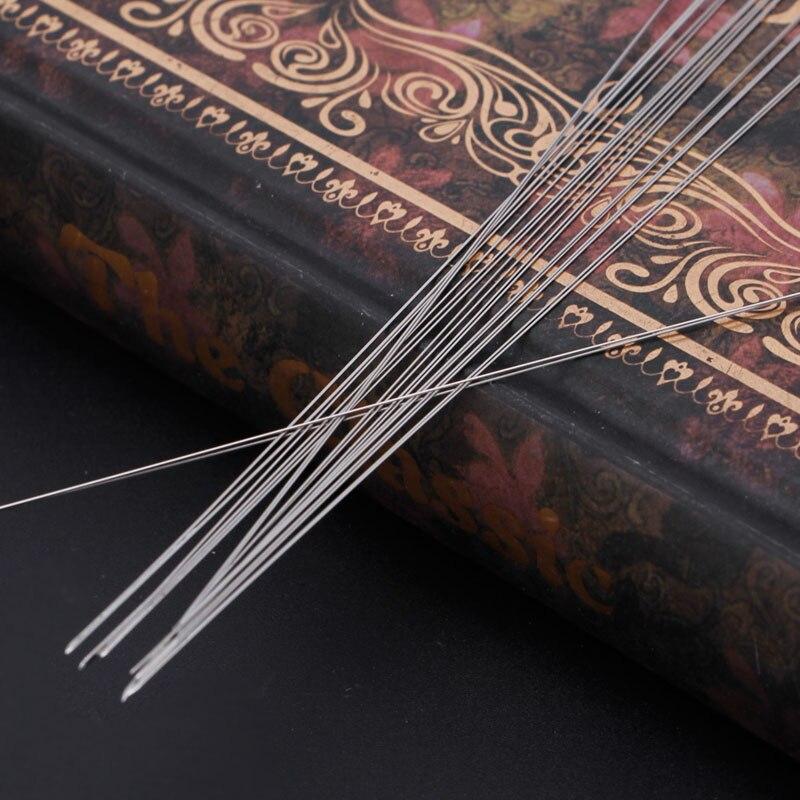 10pcs Big Eye Curved Beading Needles DIY Bracelet Necklace Stringing Cord Jewelry Craft Making Tool Handmade Art Kit Needle