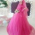 Vestido de Baile Vestidos de Casamento Estilo Islâmico Dubai Abaya Muçulmano Manga Comprida 2016 Couture Formais Mulheres Se Vestem bruidsjurken