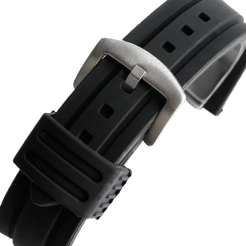 Watchband 20mm 22mm 24mm 26mm 28mm Man Woman Watch Band Military Army Black Silicone Rubber Watch Straps For Sport Waterproof