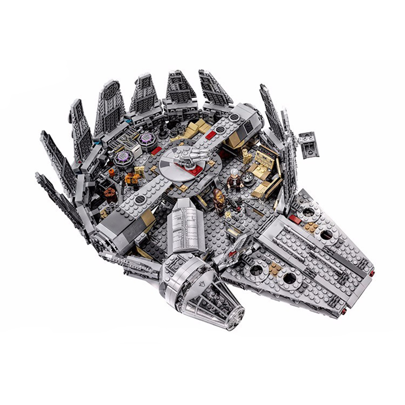 Stars Wars Model Building Blocks Set Millennium Falcon Figure Toys Compatible Legoingly StarWars Gift Toys For Children-in Blocks from Toys & Hobbies    1